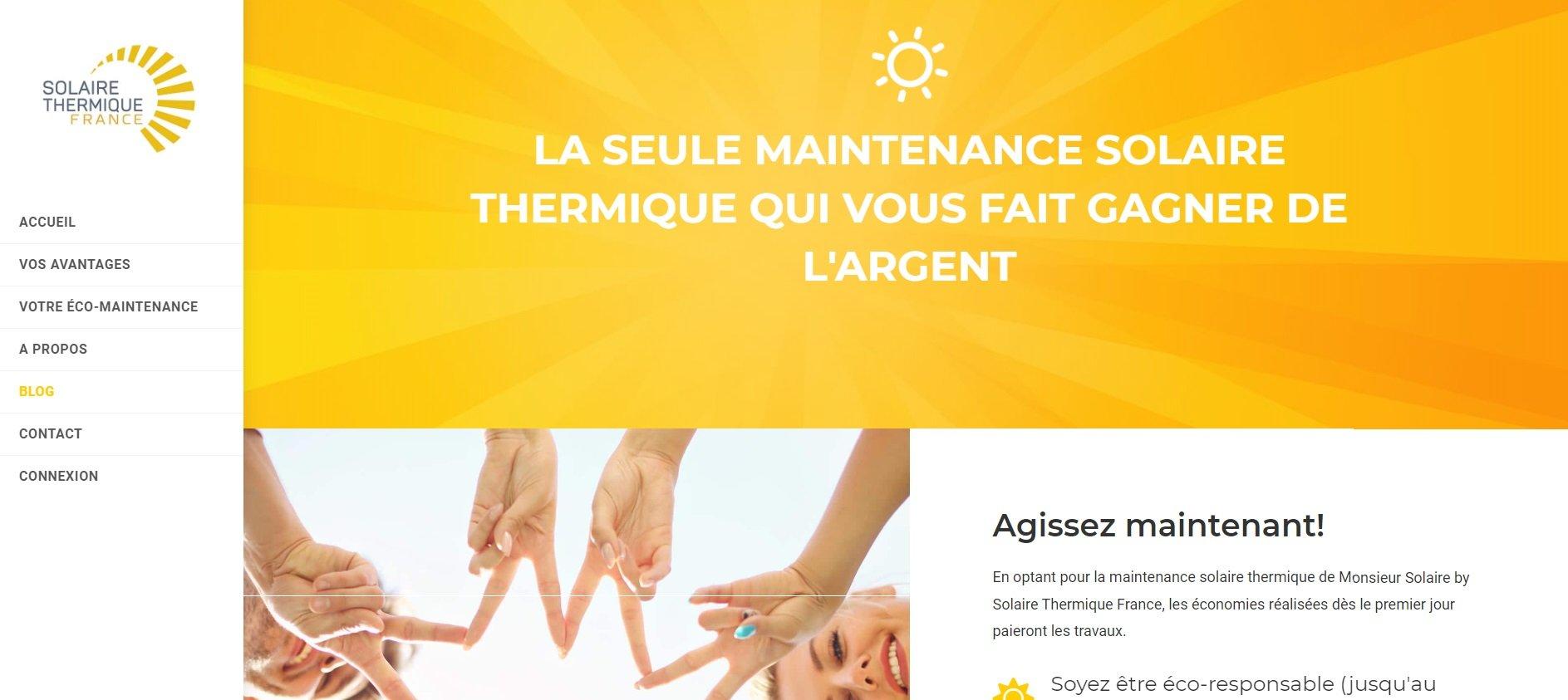 Maintenance solaire thermique collective John Jamet