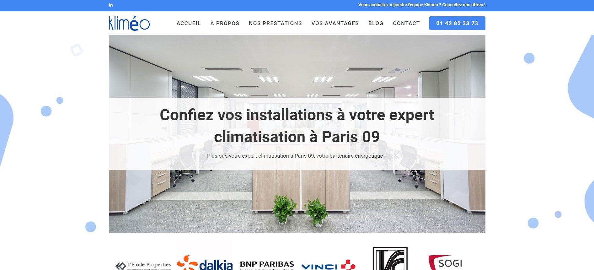 Kliméo, génie climatique Paris 09